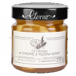 Eterno - cytrynki w syropie z pędów sosny 230g
