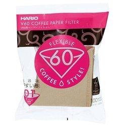 Hario filtry papierowe do dripa Misarashi brązowe V60-01 100szt
