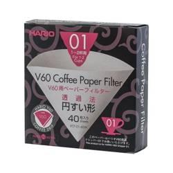 Hario filtry papierowe do dripa V60-01 40szt
