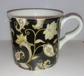 Kubek porcelanowy JACOBEAN 300ml czarny