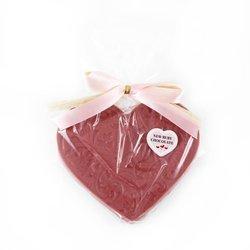 Serce z czekolady rubinowej 80g Cortez