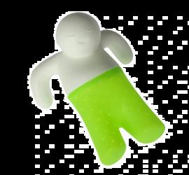 Zaparzacz silikonowy ludzik Mr Tea zielony