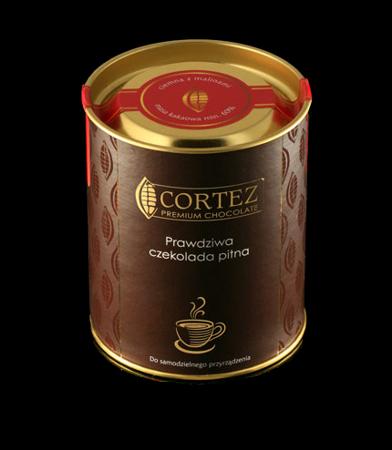Czekolada pitna ciemna z malinami 200g Chocodrops Cortez