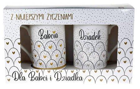 Kukartka - Komplet 2 kubków BABCIA i DZIADEK