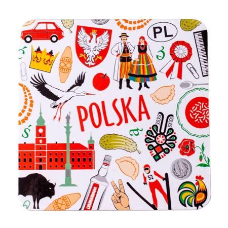 Podkładka korkowa FOLK - POLSKA symbole